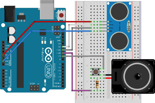 Arduino Theremin schematics