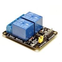 2 channels 5V optocoupled relay module