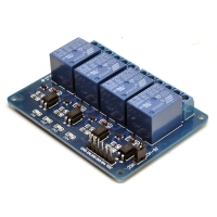 4 channels 5V optocoupled relay module